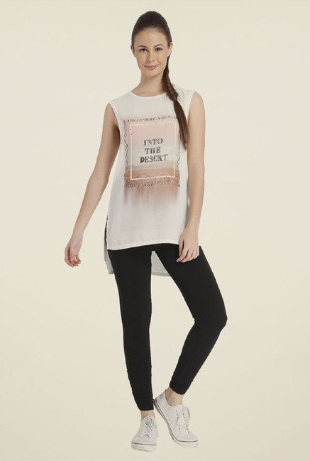 Only White Printed Polyester Top