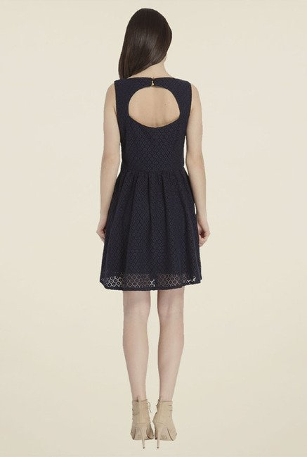 Only Black Self Print Dress