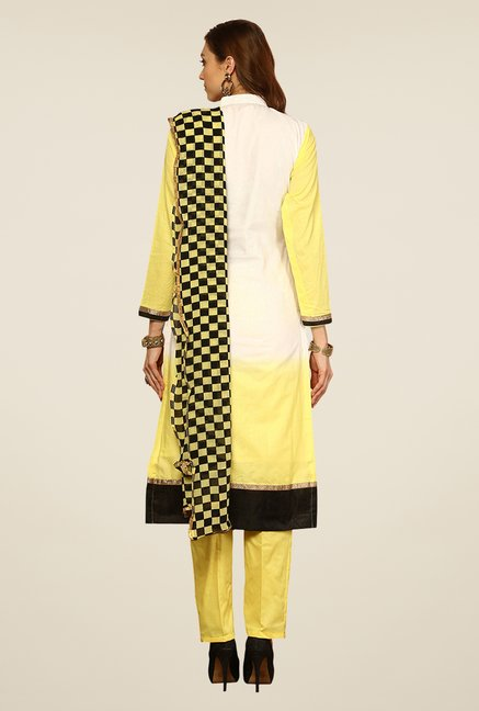 Yepme Yellow Ernestine Unstitched Suit Set