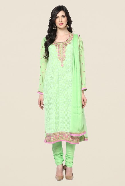 Yepme Green Belgin Unstitched Suit Set