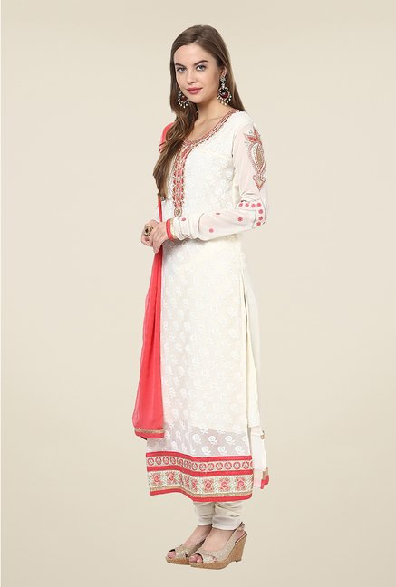 Yepme White Belgin Unstitched Suit Set