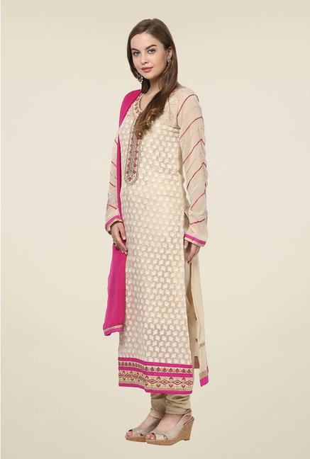 Yepme Beige Belgin Unstitched Suit Set