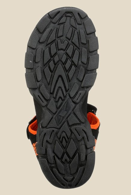 Sparx Black & Orange Floater Sandals