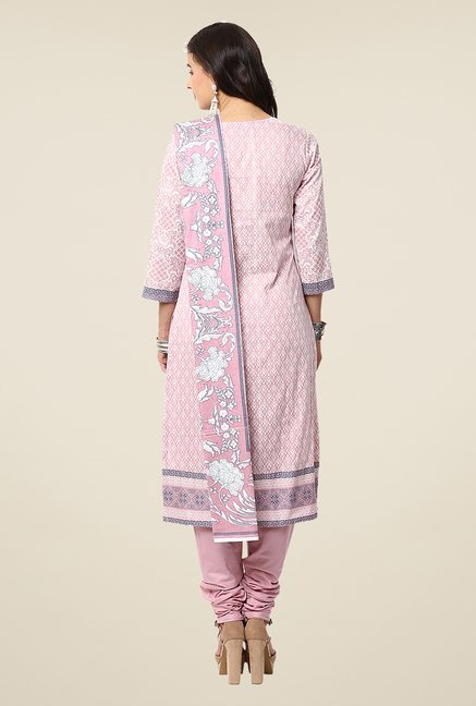 Yepme Pink Nazia Semi Stitched Pakistani Suit Set