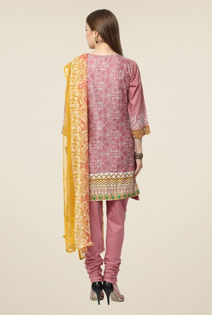 Yepme Pink Anaya Semi Stitched Pakistani Suit Set