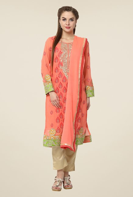 Yepme Pink Amina Semi Stitched Pakistani Suit Set