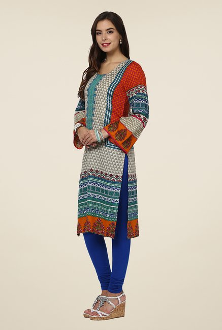 Yepme Multicolored Lovate Semi Stitched Pakistani Kurti Set