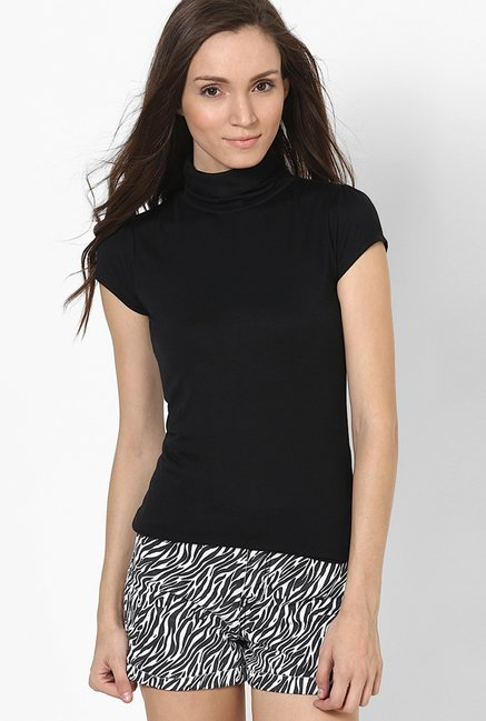 Only Black Solid Top