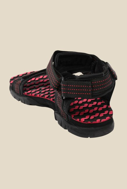 Sparx Black & Red Floater Sandals