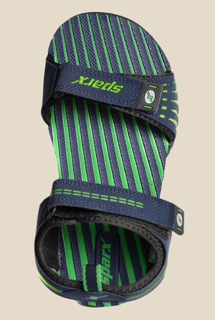 Sparx Navy & Green Floater Sandals