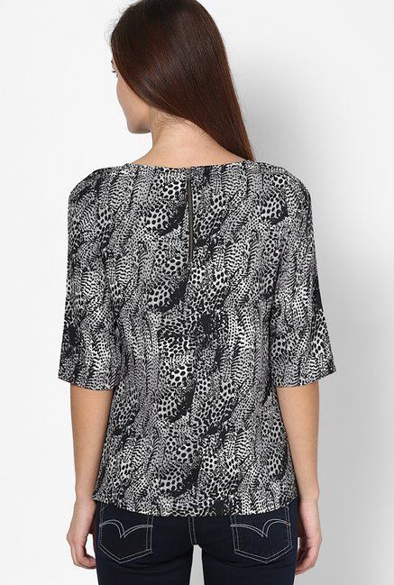 Only Black Printed Top