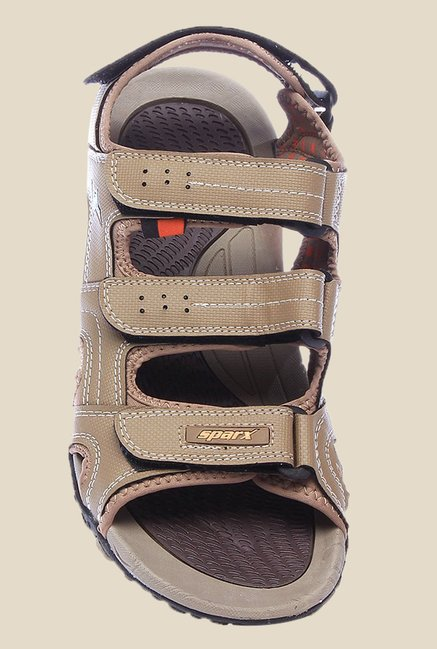 Sparx Khaki Floater Sandals