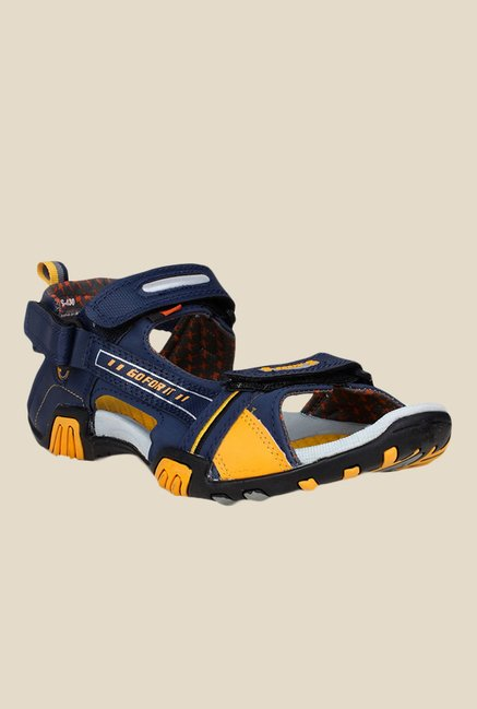 Sparx Navy & Yellow Floater Sandals