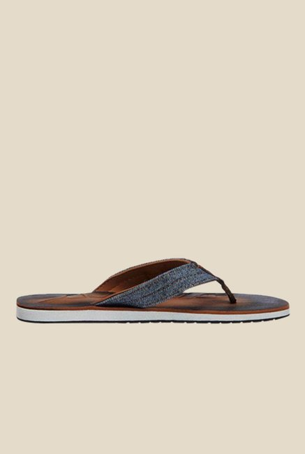 Sparx Blue & Brown Flip Flops