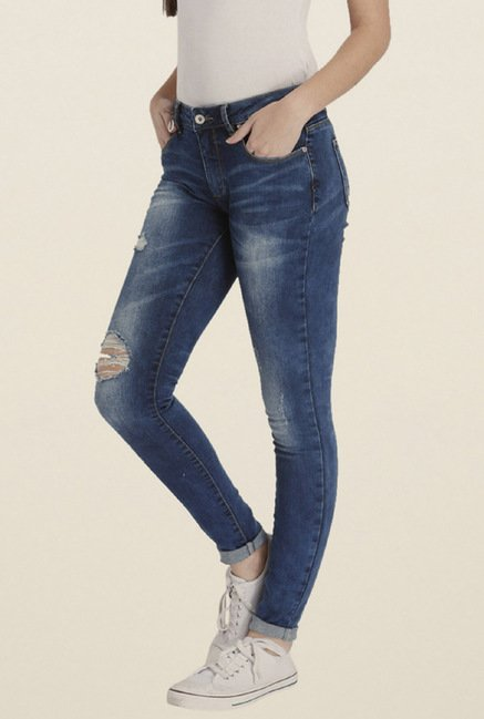 Only Blue Distressed Jeans