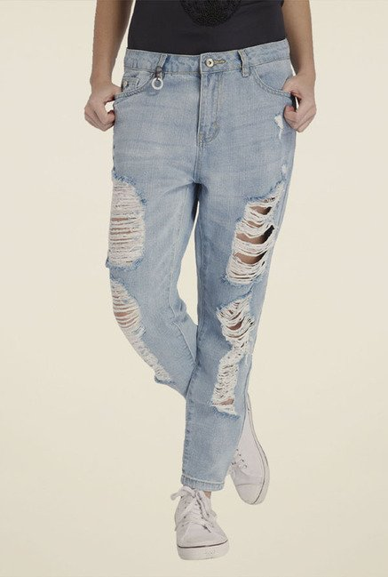 Only Light Blue Distressed Jeans