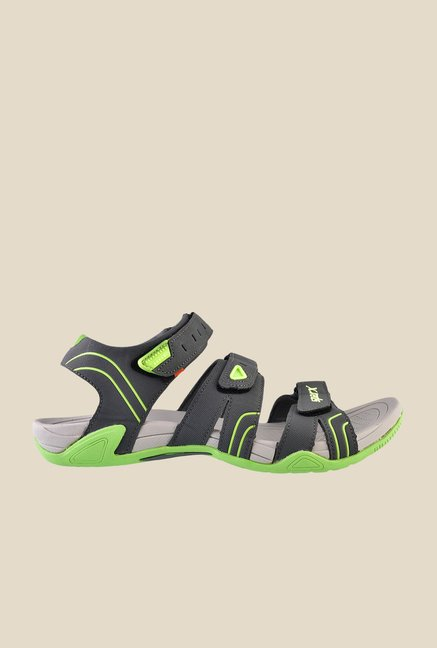 Sparx Grey & Green Floater Sandals