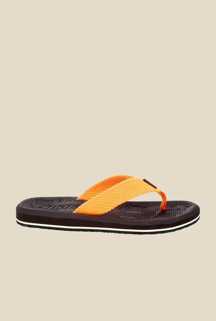 Sparx Orange & Brown Flip Flops