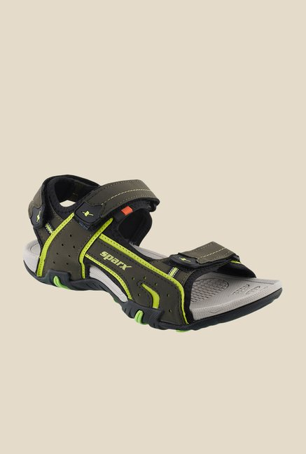 Sparx Olive & Flag Green Floater Sandals