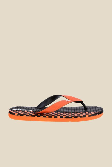 Sparx Orange & Black Flip Flops