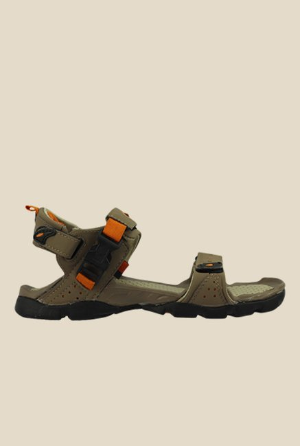 Sparx Olive & Orange Floater Sandals