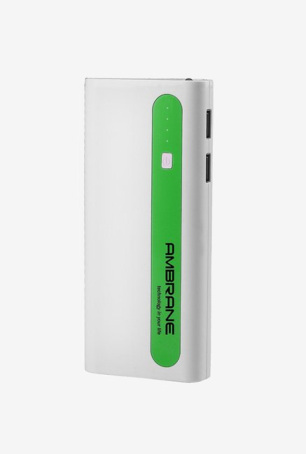 Ambrane P-1310 13000 mAh Power Bank (White & Green)