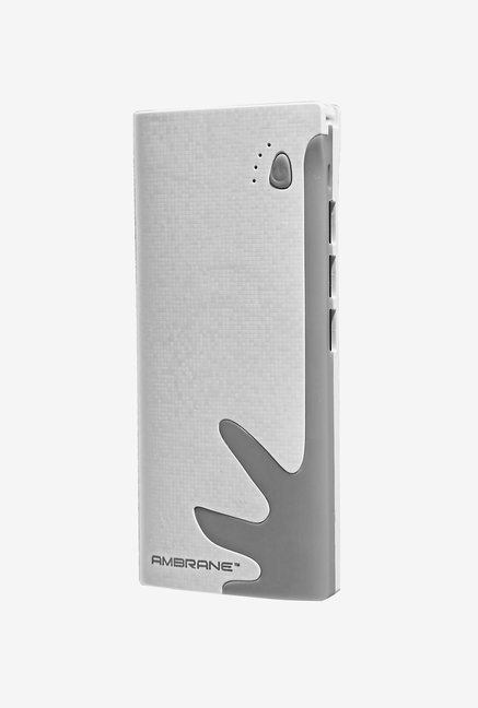 Ambrane P-1122 10000 mAh Power Bank (White & Grey)