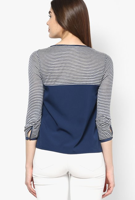 Only Navy Striped Top