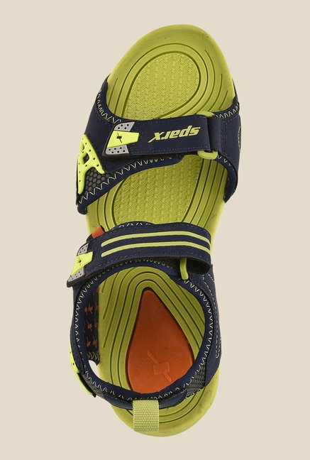 Sparx Navy & Flag Green Floater Sandals