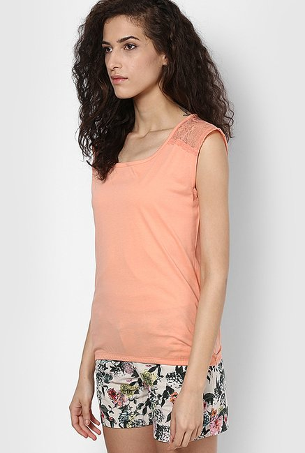 Only Peach Solid Top
