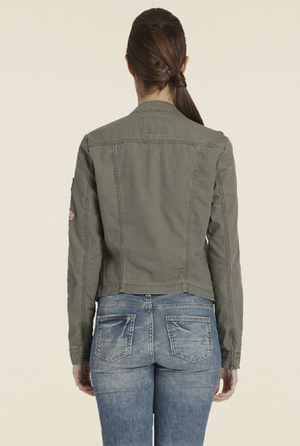 Only Olive Solid Jacket