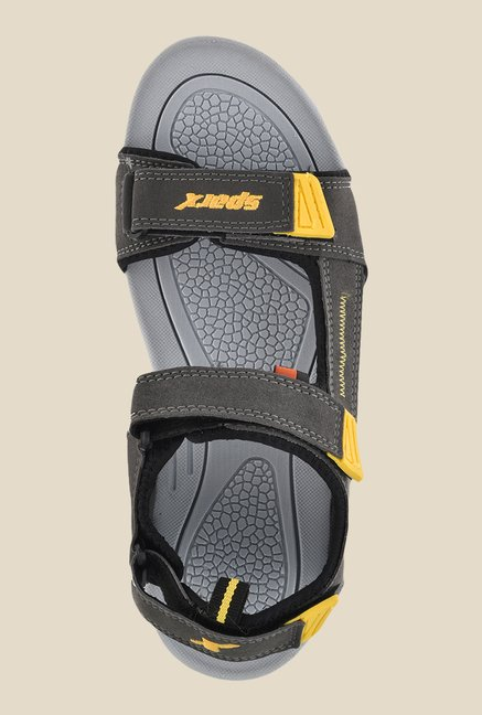 Sparx Grey & Yellow Floater Sandals