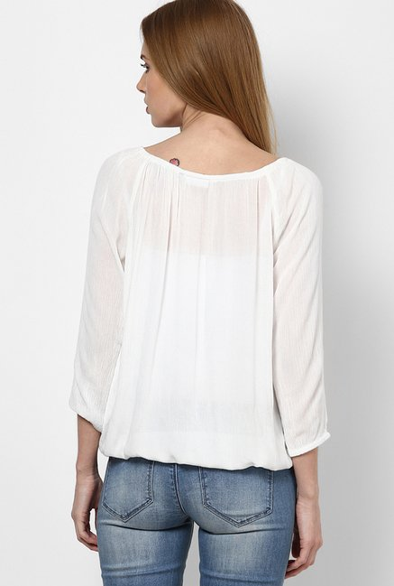 Only White Solid Top