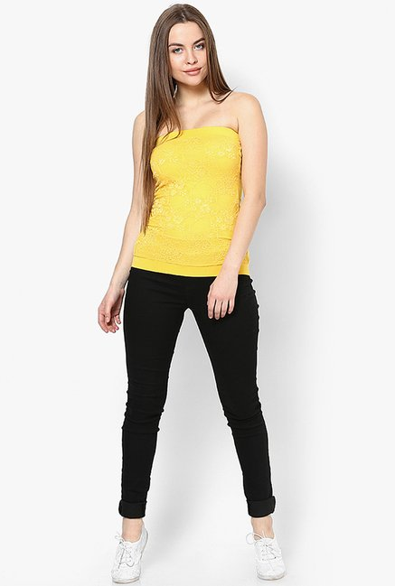Only Yellow Lace Top