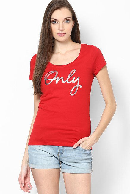 Only Red Printed Top
