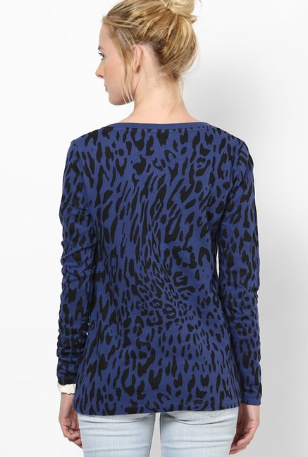 Only Blue Printed Top