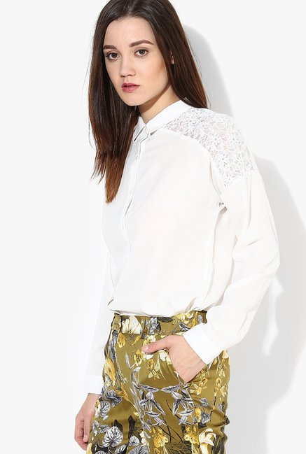 Only White Lace Top