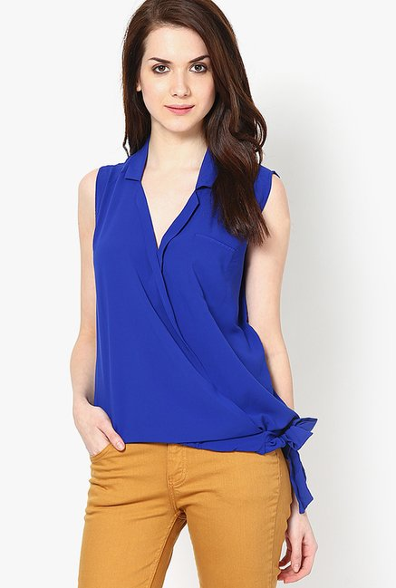 Only Blue Solid Top