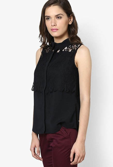 Only Black Lace Top
