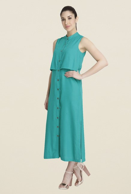 Vero Moda Green Shirt Dress