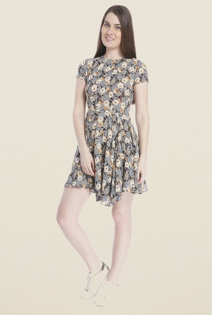 Vero Moda Grey Skater Dress