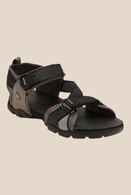 Sparx Black & Olive Floater Sandals