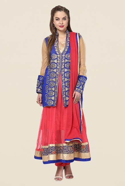 Yepme Chante Blue Unstitched Suit Set