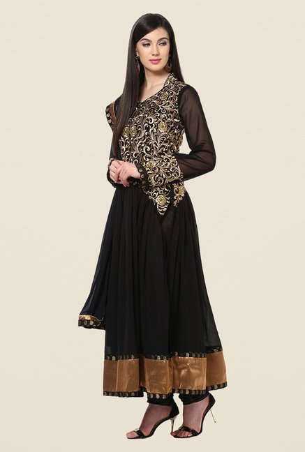 Yepme Chante Black Unstitched Suit Set