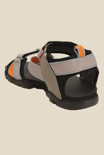 Sparx Grey & Orange Floater Sandals