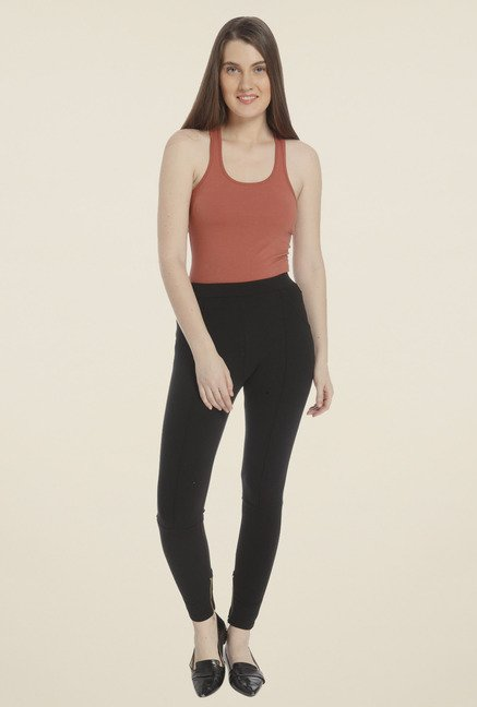 Vero Moda Black Solid Jeggings