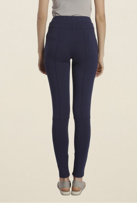 Vero Moda Navy Solid Jeggings