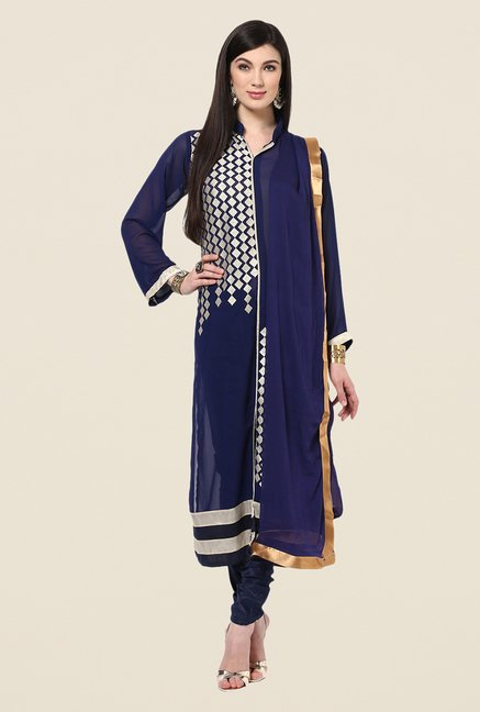 Yepme Basia Navy Unstitched Suit Set