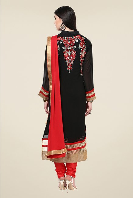 Yepme Bibiana Black & Red Unstitched Suit Set