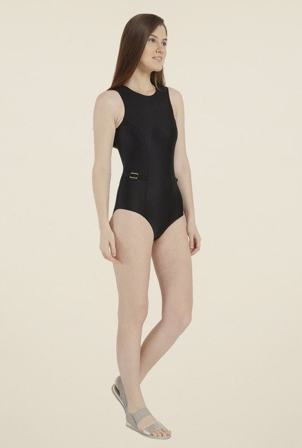 Vero Moda Black Solid Swimsuit